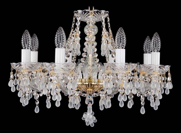 Фото Подвесная люстра Bohemia Ivele Crystal 1410 1410/8/195/G/0300