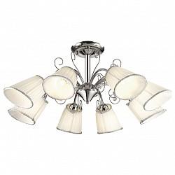 Люстра на штанге Odeon LightТекстильные плафоны<br>Артикул - OD_2928_8C,Бренд - Odeon Light (Италия),Коллекция - Fornelo,Гарантия, месяцы - 24,Высота, мм - 330,Диаметр, мм - 810,Тип лампы - компактная люминесцентная [КЛЛ] ИЛИнакаливания ИЛИсветодиодная [LED],Общее кол-во ламп - 8,Напряжение питания лампы, В - 220,Максимальная мощность лампы, Вт - 40,Лампы в комплекте - отсутствуют,Цвет плафонов и подвесок - белый с каймой, неокрашенный,Тип поверхности плафонов - матовый, прозрачный,Материал плафонов и подвесок - текстиль, хрусталь,Цвет арматуры - хром,Тип поверхности арматуры - глянцевый,Материал арматуры - металл,Возможность подлючения диммера - можно, если установить лампу накаливания,Тип цоколя лампы - E14,Класс электробезопасности - I,Общая мощность, Вт - 320,Степень пылевлагозащиты, IP - 20,Диапазон рабочих температур - комнатная температура,Дополнительные параметры - способ крепления светильника на потолке - на монтажной пластине<br>