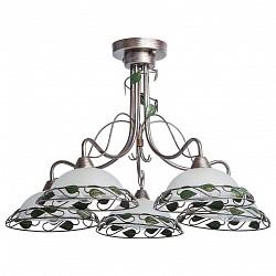 Люстра на штанге MW-LightМеталлические плафоны<br>Артикул - MW_323014905,Бренд - MW-Light (Германия),Коллекция - Аида 1,Гарантия, месяцы - 12,Высота, мм - 450,Диаметр, мм - 720,Тип лампы - компактная люминесцентная [КЛЛ] ИЛИнакаливания ИЛИсветодиодная [LED],Общее кол-во ламп - 5,Напряжение питания лампы, В - 220,Максимальная мощность лампы, Вт - 60,Лампы в комплекте - отсутствуют,Цвет плафонов и подвесок - белый, зеленый, кофе с серебряной патиной,Тип поверхности плафонов - матовый,Материал плафонов и подвесок - металл, стекло,Цвет арматуры - зеленый, кофе с серебряной патиной,Тип поверхности арматуры - матовый,Материал арматуры - металл,Количество плафонов - 5,Возможность подлючения диммера - можно, если установить лампу накаливания,Тип цоколя лампы - E14,Класс электробезопасности - I,Общая мощность, Вт - 300,Степень пылевлагозащиты, IP - 20,Диапазон рабочих температур - комнатная температура,Дополнительные параметры - способ крепления светильника к потолку – на монтажной пластине<br>