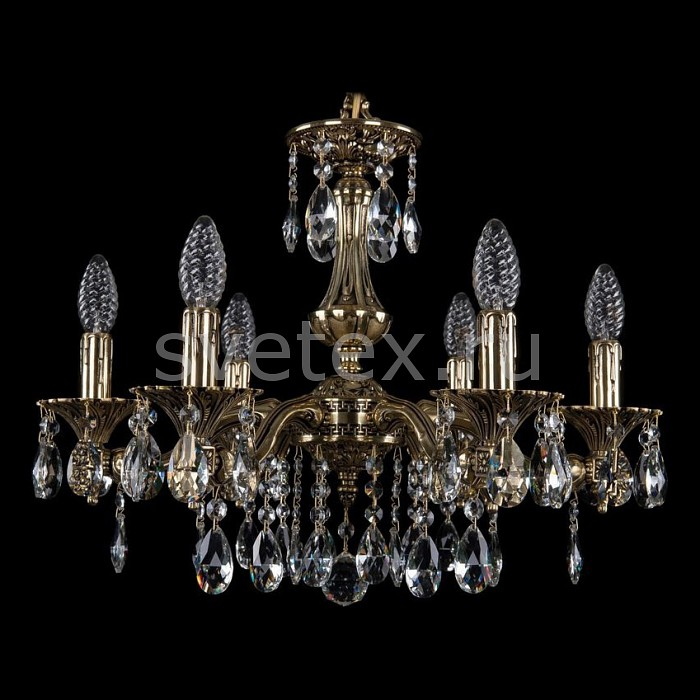 Подвесная люстра Bohemia Ivele Crystal5 или 6 ламп<br>Артикул - BI_1710_6_160_A_GB,Бренд - Bohemia Ivele Crystal (Чехия),Коллекция - 1710,Гарантия, месяцы - 24,Высота, мм - 360,Диаметр, мм - 540,Размер упаковки, мм - 450x450x200,Тип лампы - компактная люминесцентная [КЛЛ] ИЛИнакаливания ИЛИсветодиодная [LED],Общее кол-во ламп - 6,Напряжение питания лампы, В - 220,Максимальная мощность лампы, Вт - 40,Лампы в комплекте - отсутствуют,Цвет плафонов и подвесок - неокрашенный,Тип поверхности плафонов - прозрачный,Материал плафонов и подвесок - хрусталь,Цвет арматуры - золото черненое,Тип поверхности арматуры - глянцевый, рельефный,Материал арматуры - латунь,Возможность подлючения диммера - можно, если установить лампу накаливания,Форма и тип колбы - свеча ИЛИ свеча на ветру,Тип цоколя лампы - E14,Класс электробезопасности - I,Общая мощность, Вт - 240,Степень пылевлагозащиты, IP - 20,Диапазон рабочих температур - комнатная температура,Дополнительные параметры - способ крепления светильника к потолку - на крюке, указана высота светильника без подвеса<br>