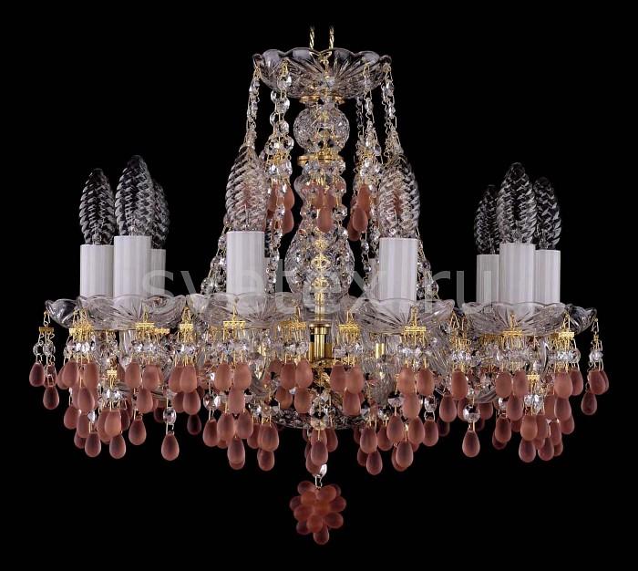 Фото Подвесная люстра Bohemia Ivele Crystal 1410 1410/10/141/G/7010