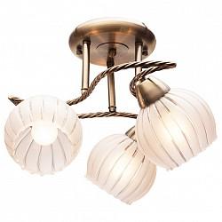 Потолочная люстра IDLampНе более 4 ламп<br>Артикул - ID_244_3PF-Oldbronze,Бренд - IDLamp (Италия),Коллекция - 244,Высота, мм - 280,Диаметр, мм - 570,Тип лампы - компактная люминесцентная [КЛЛ] ИЛИнакаливания ИЛИсветодиодная [LED],Общее кол-во ламп - 3,Напряжение питания лампы, В - 220,Максимальная мощность лампы, Вт - 60,Лампы в комплекте - отсутствуют,Цвет плафонов и подвесок - белый полосатый,Тип поверхности плафонов - матовый,Материал плафонов и подвесок - стекло,Цвет арматуры - бронза античная,Тип поверхности арматуры - глянцевый,Материал арматуры - металл,Возможность подлючения диммера - можно, если установить лампу накаливания,Тип цоколя лампы - E27,Класс электробезопасности - I,Общая мощность, Вт - 180,Степень пылевлагозащиты, IP - 20,Диапазон рабочих температур - комнатная температура,Дополнительные параметры - способ крепления светильника к потолку – на монтажной пластине<br>