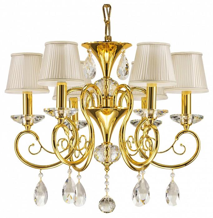 Подвесная люстра OsgonaТекстильные плафоны<br>Артикул - LS_693062,Бренд - Osgona (Италия),Коллекция - Ricerco,Гарантия, месяцы - 24,Время изготовления, дней - 1,Тип лампы - компактная люминесцентная [КЛЛ] ИЛИнакаливания ИЛИсветодиодная [LED],Общее кол-во ламп - 6,Напряжение питания лампы, В - 220,Максимальная мощность лампы, Вт - 40,Лампы в комплекте - отсутствуют,Цвет плафонов и подвесок - белый, неокрашенный,Тип поверхности плафонов - матовый, прозрачный,Материал плафонов и подвесок - текстиль, хрусталь,Цвет арматуры - золото, неокрашенный,Тип поверхности арматуры - глянцевый, прозрачный,Материал арматуры - металл, стекло,Количество плафонов - 6,Возможность подлючения диммера - можно, если установить лампу накаливания,Тип цоколя лампы - E14,Класс электробезопасности - I,Общая мощность, Вт - 240,Степень пылевлагозащиты, IP - 20,Диапазон рабочих температур - комнатная температура<br>