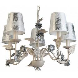 Подвесная люстра TopLightТекстильные плафоны<br>Артикул - TPL_TL5630D-05WH,Бренд - TopLight (Россия),Коллекция - Madlyn,Гарантия, месяцы - 24,Высота, мм - 870,Диаметр, мм - 600,Тип лампы - компактная люминесцентная [КЛЛ] ИЛИнакаливания ИЛИсветодиодная [LED],Общее кол-во ламп - 5,Напряжение питания лампы, В - 220,Максимальная мощность лампы, Вт - 40,Лампы в комплекте - отсутствуют,Цвет плафонов и подвесок - белый с серым рисунком,Тип поверхности плафонов - матовый,Материал плафонов и подвесок - текстиль,Цвет арматуры - белый,Тип поверхности арматуры - матовый,Материал арматуры - металл,Возможность подлючения диммера - можно, если установить лампу накаливания,Тип цоколя лампы - E14,Класс электробезопасности - I,Общая мощность, Вт - 200,Степень пылевлагозащиты, IP - 20,Диапазон рабочих температур - комнатная температура,Дополнительные параметры - способ крепления светильника к потолку - на крюке, регулируется по высоте<br>