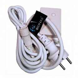 Провод электропитания RichLEDБлоки питания<br>Артикул - RL_RL-Cn4-220,Бренд - RichLED (Россия),Коллекция - RL-Cn4,Класс электробезопасности - I,Дополнительные параметры - может совместно использоваться cо светодиодными сетками:RL-N2_1.5-T_R, RL-N2_1.5-T_Y, RL-N2_1.5-T_B;RL-N2_1.5-T_M, RL-N2_1.5-T_G, RL-N2_1.5-T_W;RL-N2_1.5-T_WW, RL-N2_1.5-T_BW, RL-N2_3-T_R;RL-N2_3-T_Y, RL-N2_3-T_B, RL-N2_3-T_M;RL-N2_3-T_G, RL-N2_3-T_W, RL-N2_3-T_WW;RL-N2_3-T_BWRL-i3_0.5-T_WW, RL-i3_0.5-T_P, RL-i3_0.5-T_V;RL-i3_0.5-T_BW, RL-i3_0.5-B_R, RL-i3_0.5-B_Y;RL-i3_0.5-B_B, RL-i3_0.5-B_M, RL-i3_0.5-B_W;RL-i3_0.5-B_WW, RL-i3_0.9F-T_R, RL-i3_0.9F-T_Y;RL-i3_0.9F-T_B, RL-i3_0.9F-T_M, RL-i3_0.9F-T_W;RL-i3_0.9F-T_WW, RL-i3_0.9F-T_BW, RL-i3_0.9F-B_Y;RL-i3_0.9F-B_B, RL-i3_0.9F-B_M, RL-i3_0.9F-B_W;RL-i3_0.9F-B_WW, RL-i3_0.9F-B_BW, RL-i3_0.5-RW_R;RL-i3_0.5-RW_Y, RL-i3_0.5-RW_B, RL-i3_0.5-RW_M;RL-i3_0.5-RW_G, RL-i3_0.5-RW_W, RL-i3_0.5-RW_WW;RL-i3_0.5-RW_BW, RL-i2_2-T_W;<br>