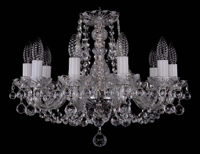 Фото Подвесная люстра Bohemia Ivele Crystal 1406 1406/10/160/Ni/Balls
