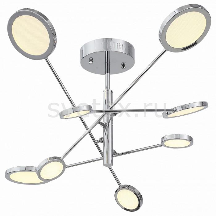 Люстра на штанге ST-LuceПолимерные плафоны<br>Артикул - SL932.102.08,Бренд - ST-Luce (Китай),Коллекция - Gruppo2,Гарантия, месяцы - 24,Время изготовления, дней - 1,Высота, мм - 500,Диаметр, мм - 810,Тип лампы - светодиодная [LED],Общее кол-во ламп - 8,Напряжение питания лампы, В - 220,Максимальная мощность лампы, Вт - 7.5,Цвет лампы - белый,Лампы в комплекте - светодиодные [LED],Цвет плафонов и подвесок - белый,Тип поверхности плафонов - матовый,Материал плафонов и подвесок - акрил,Цвет арматуры - хром,Тип поверхности арматуры - глянцевый,Материал арматуры - металл,Количество плафонов - 8,Возможность подлючения диммера - нельзя,Цветовая температура, K - 4000 K,Экономичнее лампы накаливания - в 10 раз,Класс электробезопасности - I,Общая мощность, Вт - 60,Степень пылевлагозащиты, IP - 20,Диапазон рабочих температур - комнатная температура,Дополнительные параметры - способ крепления светильника к потолку – на монтажной пластине<br>