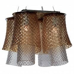 Подвесная люстра DivinareНе более 4 ламп<br>Артикул - DV_1152_02_SP-4,Бренд - Divinare (Италия),Коллекция - Miracolo,Гарантия, месяцы - 24,Высота, мм - 410-2010,Диаметр, мм - 600,Тип лампы - компактная люминесцентная [КЛЛ] ИЛИнакаливания ИЛИсветодиодная [LED],Общее кол-во ламп - 4,Напряжение питания лампы, В - 220,Максимальная мощность лампы, Вт - 100,Лампы в комплекте - отсутствуют,Цвет плафонов и подвесок - неокрашенный, янтарь,Тип поверхности плафонов - прозрачный, рельефный,Материал плафонов и подвесок - стекло,Цвет арматуры - хром,Тип поверхности арматуры - глянцевый,Материал арматуры - металл,Возможность подлючения диммера - можно, если установить лампу накаливания,Тип цоколя лампы - E27,Класс электробезопасности - I,Общая мощность, Вт - 400,Степень пылевлагозащиты, IP - 20,Диапазон рабочих температур - комнатная температура,Дополнительные параметры - способ крепления светильника к потолку - на монтажной пластине<br>