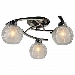 Потолочная люстра IDLampНе более 4 ламп<br>Артикул - ID_875_3PF-Darkchrome,Бренд - IDLamp (Италия),Коллекция - 875,Гарантия, месяцы - 24,Высота, мм - 230,Диаметр, мм - 520,Тип лампы - компактная люминесцентная [КЛЛ] ИЛИнакаливания ИЛИсветодиодная [LED],Общее кол-во ламп - 3,Напряжение питания лампы, В - 220,Максимальная мощность лампы, Вт - 60,Лампы в комплекте - отсутствуют,Цвет плафонов и подвесок - белый, неокрашенный,Тип поверхности плафонов - матовый, прозрачный, рельефный,Материал плафонов и подвесок - стекло,Цвет арматуры - хром черненный,Тип поверхности арматуры - глянцевый,Материал арматуры - металл,Возможность подлючения диммера - можно, если установить лампу накаливания,Тип цоколя лампы - E27,Общая мощность, Вт - 180,Степень пылевлагозащиты, IP - 20,Диапазон рабочих температур - комнатная температура<br>