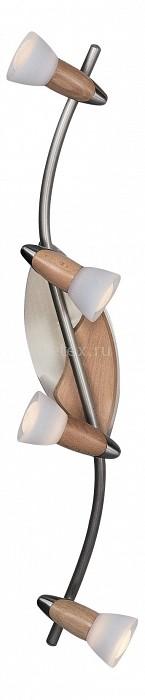 Спот GloboС 4 лампами<br>Артикул - GB_5441-4,Бренд - Globo (Австрия),Коллекция - Lord II,Гарантия, месяцы - 24,Время изготовления, дней - 1,Длина, мм - 640,Ширина, мм - 210,Размер упаковки, мм - 835x145x140,Тип лампы - компактная люминесцентная [КЛЛ] ИЛИнакаливания ИЛИсветодиодная [LED],Общее кол-во ламп - 4,Напряжение питания лампы, В - 220,Максимальная мощность лампы, Вт - 40,Лампы в комплекте - отсутствуют,Цвет плафонов и подвесок - белый,Тип поверхности плафонов - матовый,Материал плафонов и подвесок - стекло,Цвет арматуры - никель, желтый,Тип поверхности арматуры - матовый,Материал арматуры - дерево, сталь,Количество плафонов - 4,Возможность подлючения диммера - можно, если установить лампу накаливания,Тип цоколя лампы - E14,Класс электробезопасности - I,Общая мощность, Вт - 160,Степень пылевлагозащиты, IP - 20,Диапазон рабочих температур - комнатная температура,Дополнительные параметры - поворотный светильник, рефлекторная лампа R50 (диаметр колбы 50 мм) или аналоги<br>