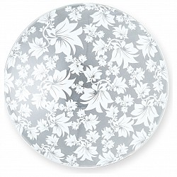 Накладной светильник TopLightКруглые<br>Артикул - TPL_TL9061Y-02WH,Бренд - TopLight (Россия),Коллекция - Primrose,Гарантия, месяцы - 24,Высота, мм - 80,Диаметр, мм - 300,Размер упаковки, мм - 350x120x350,Тип лампы - компактная люминесцентная [КЛЛ] ИЛИнакаливания ИЛИсветодиодная [LED],Общее кол-во ламп - 2,Напряжение питания лампы, В - 220,Максимальная мощность лампы, Вт - 60,Лампы в комплекте - отсутствуют,Цвет плафонов и подвесок - неокрашенный с белым рисунком,Тип поверхности плафонов - матовый, прозрачный,Материал плафонов и подвесок - стекло,Цвет арматуры - хром,Тип поверхности арматуры - глянцевый,Материал арматуры - металл,Возможность подлючения диммера - можно, если установить лампу накаливания,Тип цоколя лампы - E27,Класс электробезопасности - I,Общая мощность, Вт - 120,Степень пылевлагозащиты, IP - 20,Диапазон рабочих температур - комнатная температура,Дополнительные параметры - способ крепления светильника к потолку - на монтажной пластине<br>