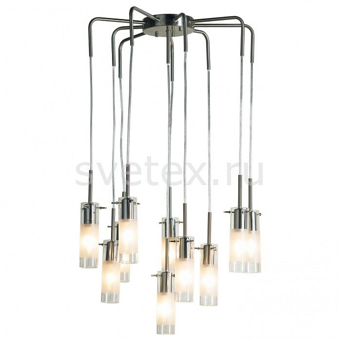 Подвесной светильник LussoleСветодиодные<br>Артикул - LSA-0203-10,Бренд - Lussole (Италия),Коллекция - Leinell,Гарантия, месяцы - 24,Время изготовления, дней - 1,Высота, мм - 800,Диаметр, мм - 520,Тип лампы - компактная люминесцентная [КЛЛ] ИЛИнакаливания ИЛИсветодиодная [LED],Общее кол-во ламп - 10,Напряжение питания лампы, В - 220,Максимальная мощность лампы, Вт - 40,Лампы в комплекте - отсутствуют,Цвет плафонов и подвесок - белый с неокрашенной каймой,Тип поверхности плафонов - матовый,Материал плафонов и подвесок - стекло,Цвет арматуры - никель,Тип поверхности арматуры - матовый,Материал арматуры - сталь,Количество плафонов - 10,Возможность подлючения диммера - можно, если установить лампу накаливания,Тип цоколя лампы - E14,Класс электробезопасности - I,Общая мощность, Вт - 400,Степень пылевлагозащиты, IP - 20,Диапазон рабочих температур - комнатная температура<br>