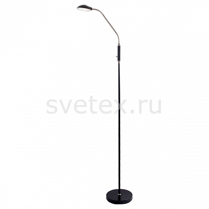 Торшер IDLampСветильники<br>Артикул - ID_280_1P-LEDBlacksand,Бренд - IDLamp (Италия),Коллекция - Quanti,Гарантия, месяцы - 24,Ширина, мм - 200,Высота, мм - 1440,Выступ, мм - 495,Тип лампы - светодиодная [LED],Общее кол-во ламп - 1,Напряжение питания лампы, В - 220,Максимальная мощность лампы, Вт - 5,Цвет лампы - белый,Лампы в комплекте - светодиодная [LED],Цвет плафонов и подвесок - неокрашенный, черный,Тип поверхности плафонов - матовый,Материал плафонов и подвесок - металл, полимер,Цвет арматуры - черный,Тип поверхности арматуры - матовый,Материал арматуры - металл,Количество плафонов - 1,Наличие выключателя, диммера или пульта ДУ - выключатель,Компоненты, входящие в комплект - провод электропитания с вилкой без заземления,Цветовая температура, K - 4000 - 4200 K,Световой поток, лм - 500,Экономичнее лампы накаливания - в 10 раз,Светоотдача, лм/Вт - 100,Класс электробезопасности - II,Степень пылевлагозащиты, IP - 20,Диапазон рабочих температур - комнатная температура<br>