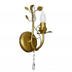 Бра АврораС 1 лампой<br>Артикул - AV_10076-1B,Бренд - Аврора (Россия),Коллекция - Сицилия,Гарантия, месяцы - 24,Высота, мм - 300,Тип лампы - компактная люминесцентная [КЛЛ] ИЛИнакаливания ИЛИсветодиодная [LED],Общее кол-во ламп - 1,Напряжение питания лампы, В - 220,Максимальная мощность лампы, Вт - 60,Лампы в комплекте - отсутствуют,Тип поверхности плафонов - прозрачный,Материал плафонов и подвесок - хрусталь,Цвет арматуры - золото,Тип поверхности арматуры - глянцевый,Материал арматуры - металл,Возможность подлючения диммера - можно, если установить лампу накаливания,Форма и тип колбы - свеча ИЛИ свеча на ветру,Тип цоколя лампы - E14,Класс электробезопасности - I,Степень пылевлагозащиты, IP - 20,Диапазон рабочих температур - комнатная температура,Дополнительные параметры - способ крепления светильника на стене – на монтажной пластине, светильник предназначен для использования со скрытой проводкой<br>