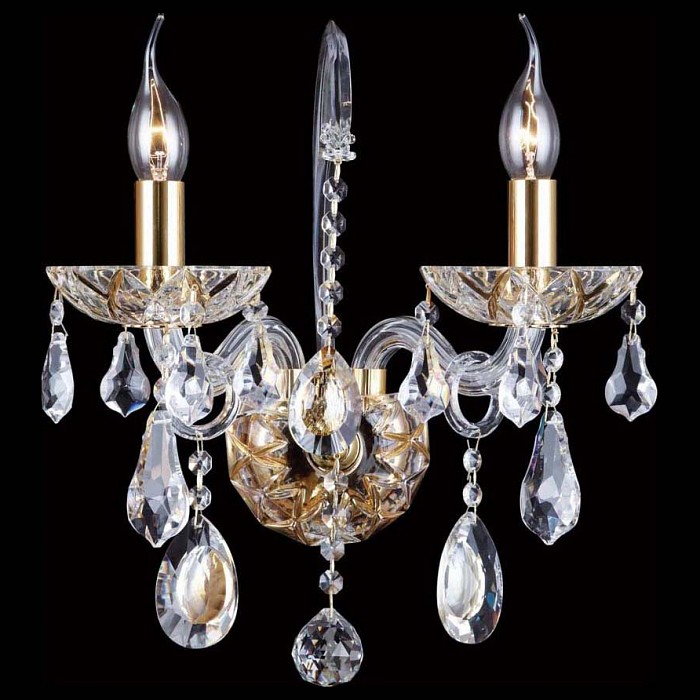 Бра Crystal LuxБолее 1 лампы<br>Артикул - CU_2020_402,Бренд - Crystal Lux (Испания),Коллекция - Ice New,Гарантия, месяцы - 24,Время изготовления, дней - 1,Ширина, мм - 230,Высота, мм - 400,Выступ, мм - 235,Тип лампы - компактная люминесцентная [КЛЛ] ИЛИнакаливания ИЛИсветодиодная [LED],Общее кол-во ламп - 2,Напряжение питания лампы, В - 220,Максимальная мощность лампы, Вт - 60,Лампы в комплекте - отсутствуют,Цвет плафонов и подвесок - неокрашенный,Тип поверхности плафонов - прозрачный,Материал плафонов и подвесок - хрусталь,Цвет арматуры - золото, неокрашенный,Тип поверхности арматуры - глянцевый, прозрачный,Материал арматуры - металл, стекло,Возможность подлючения диммера - можно, если установить лампу накаливания,Форма и тип колбы - свеча ИЛИ свеча на ветру,Тип цоколя лампы - E14,Класс электробезопасности - I,Общая мощность, Вт - 120,Степень пылевлагозащиты, IP - 20,Диапазон рабочих температур - комнатная температура,Дополнительные параметры - светильник предназначен для использования со скрытой проводкой<br>