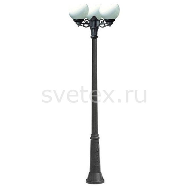 Фонарный столб FumagalliСветильники<br>Артикул - FU_G25.157.S30.AYE27,Бренд - Fumagalli (Италия),Коллекция - Globe 250,Гарантия, месяцы - 24,Высота, мм - 2350,Диаметр, мм - 620,Тип лампы - компактная люминесцентная [КЛЛ] ИЛИнакаливания ИЛИсветодиодная [LED],Общее кол-во ламп - 3,Напряжение питания лампы, В - 220,Максимальная мощность лампы, Вт - 60,Лампы в комплекте - отсутствуют,Цвет плафонов и подвесок - белый,Тип поверхности плафонов - матовый,Материал плафонов и подвесок - полимер,Цвет арматуры - черный,Тип поверхности арматуры - матовый,Материал арматуры - металл,Количество плафонов - 3,Тип цоколя лампы - E27,Класс электробезопасности - I,Общая мощность, Вт - 180,Степень пылевлагозащиты, IP - 55,Диапазон рабочих температур - от -40^C до +40^C<br>