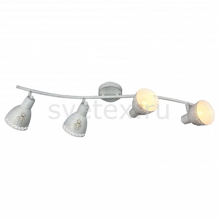 Спот FavouriteСпоты<br>Артикул - FV_1798-4U,Бренд - Favourite (Германия),Коллекция - Martos,Гарантия, месяцы - 24,Время изготовления, дней - 1,Длина, мм - 775,Ширина, мм - 160,Выступ, мм - 175,Тип лампы - компактная люминесцентная [КЛЛ] ИЛИнакаливания ИЛИсветодиодная [LED],Общее кол-во ламп - 4,Напряжение питания лампы, В - 220,Максимальная мощность лампы, Вт - 40,Лампы в комплекте - отсутствуют,Цвет плафонов и подвесок - белый с золотой патиной,Тип поверхности плафонов - матовый,Материал плафонов и подвесок - металл,Цвет арматуры - белый,Тип поверхности арматуры - матовый,Материал арматуры - металл,Количество плафонов - 4,Возможность подлючения диммера - можно, если установить лампу накаливания,Тип цоколя лампы - E14,Класс электробезопасности - I,Общая мощность, Вт - 160,Степень пылевлагозащиты, IP - 20,Диапазон рабочих температур - комнатная температура,Дополнительные параметры - поворотный светильник<br>