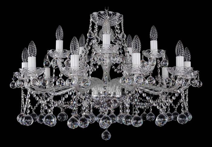 Фото Подвесная люстра Bohemia Ivele Crystal 1413 1413/10_5/300/Ni/Balls