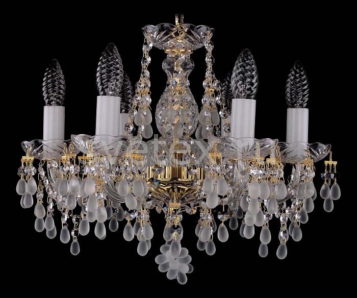 Фото Подвесная люстра Bohemia Ivele Crystal 1410 1410/6/141/G/0300