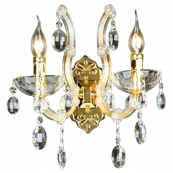 Фото Бра Crystal Lux Hollywood HOLLYWOOD AP2 GOLD